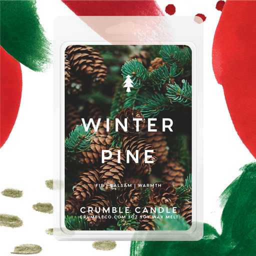 Winter Pine Wax Melts - Fragrant Wax Melts & Wax Cubes | Crumble Co. Scented Wax Bars & Candles