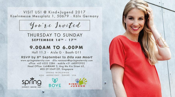 Invitation to Spring Maternity at Kind+Jugend 2017, Cologne, Germany