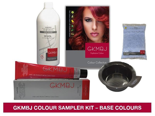 GKMBJ Hair Colour 6 Colour Sampler Base Colours