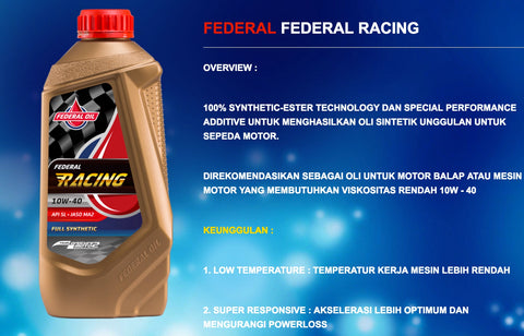 Federal Oil Oli Racing Indonesia