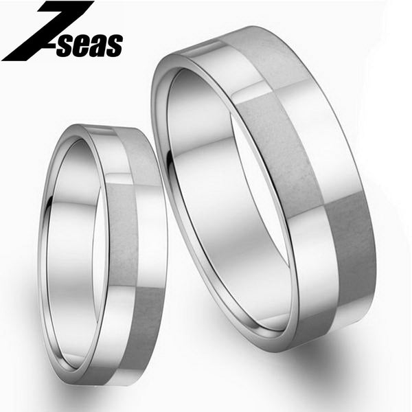 1 Piece Price Fashion Stainless Steel Couple Finger Rings New