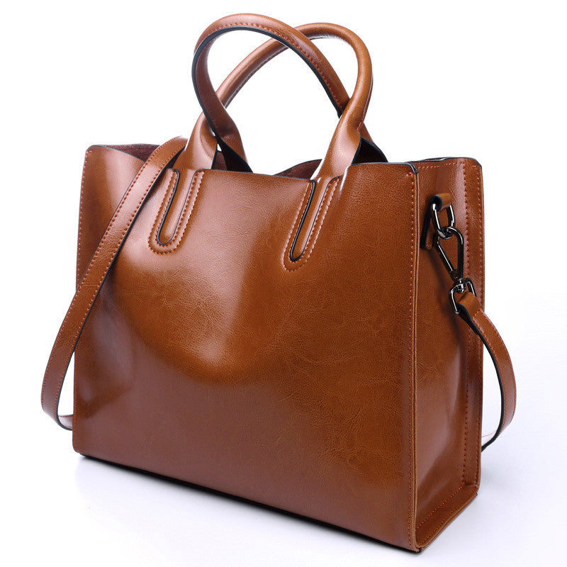 ... 100% Genuine Leather Bags Women s Bucket Famous Brand Designer Handbags  High Quality Tote Shoulder Messenger ... 4a7334e567d85