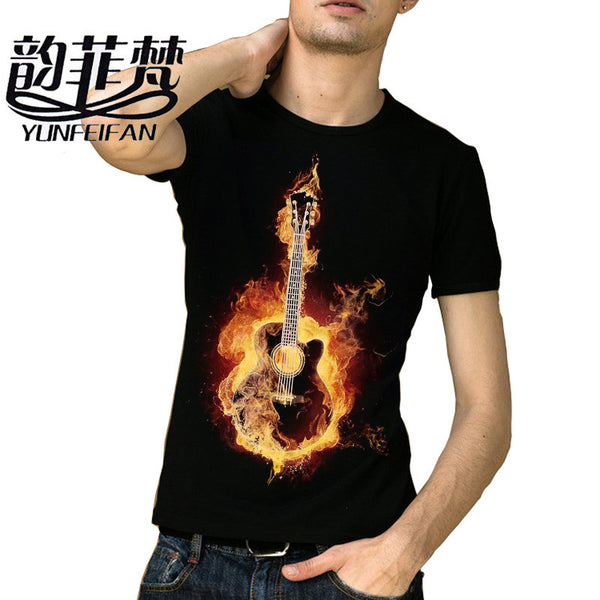 d04f1f54d16 2016 Brand Clothing Slim T Shirt Men 100% Cotton Black metallica T-shirt  Rock
