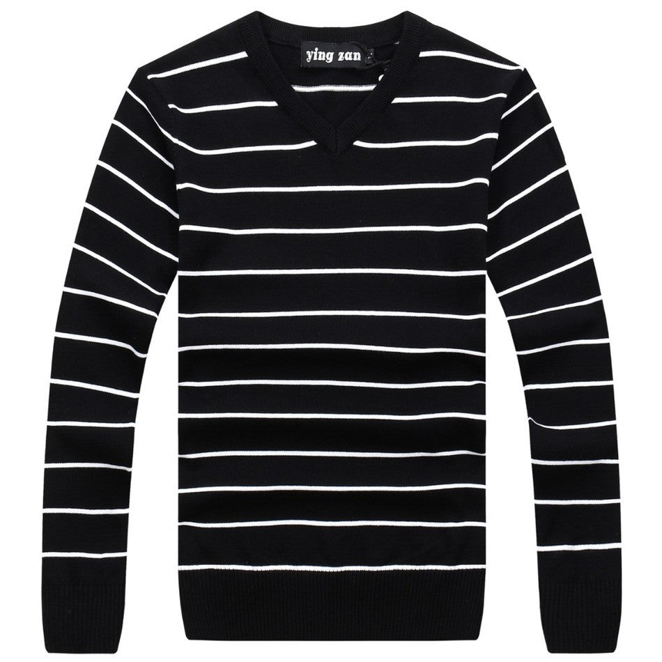 6c576248ee1 2016 MEN S SWEATERS PULLOVER NEW COLLECTION FOR SPRING WINTER COLLECTION  BRAND CLOTHING LEISURE STRIPED DESIGN COTTON ...