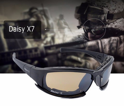2016 New Daisy X7 Glasses Military Polarized Goggles Bullet-proof Army Sunglasses With 4 Lens Original Box Men Shooting Eyewear