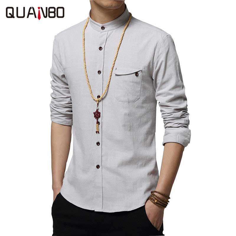 bb3d6563bf28 ... 2017 New Autumn Fashion Brand Men Colthes Slim Fit Men Long Sleeve  Shirt White Linen Shirts ...