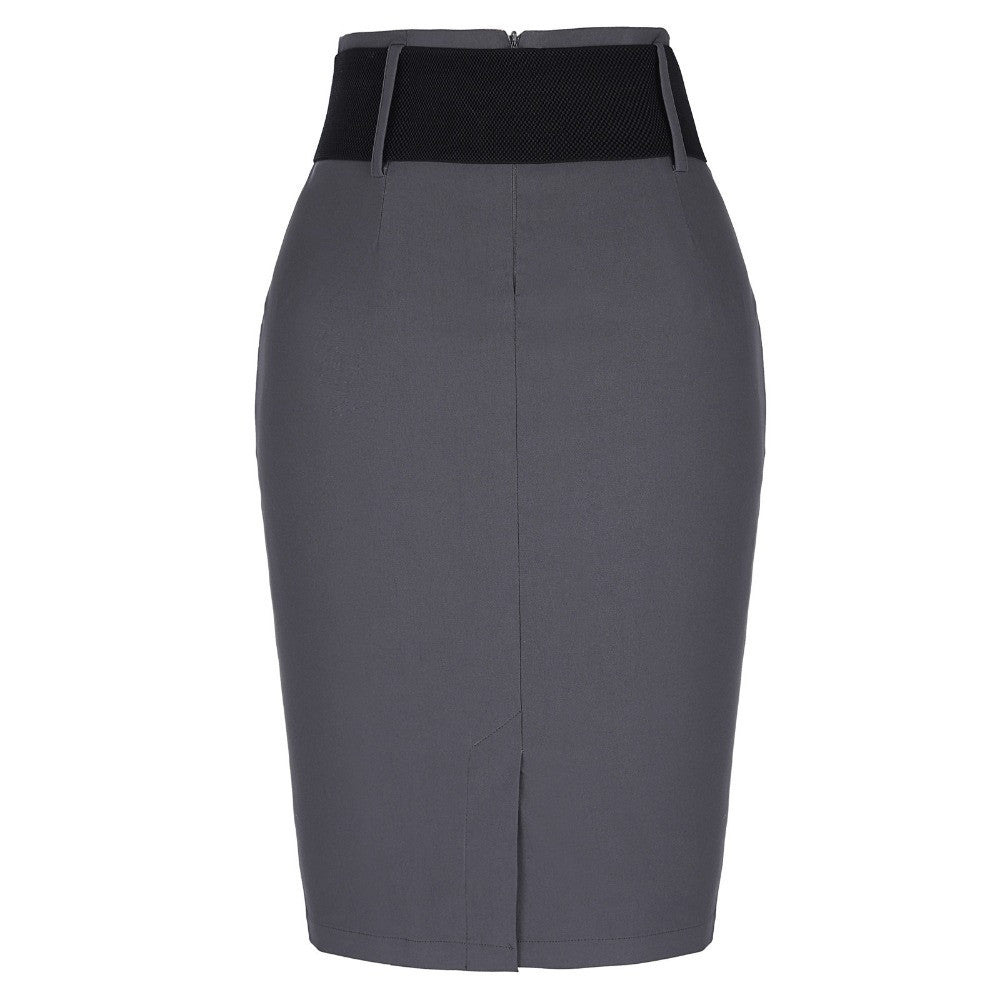 38a523728e ... 2017 New Sexy Pencil Skirts Womens Business Work Office Skirt With Belt  High Waist Elastic Casual ...