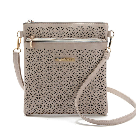 b23291f5513a 2017 Small Casual women messenger bags PU hollow out crossbody bags ladies  shoulder purse and handbags