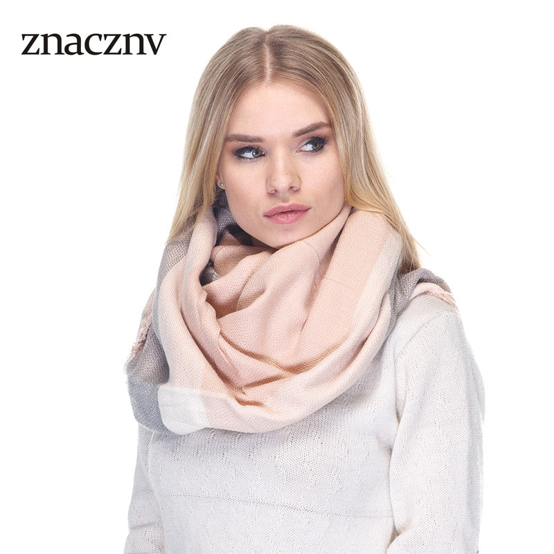 2017 Spanish Luxury Brand  Woman Cashmere Scarf  Winter Warm High Quality Soft Tassel Stripe Large size Square Shawl,  Wrap