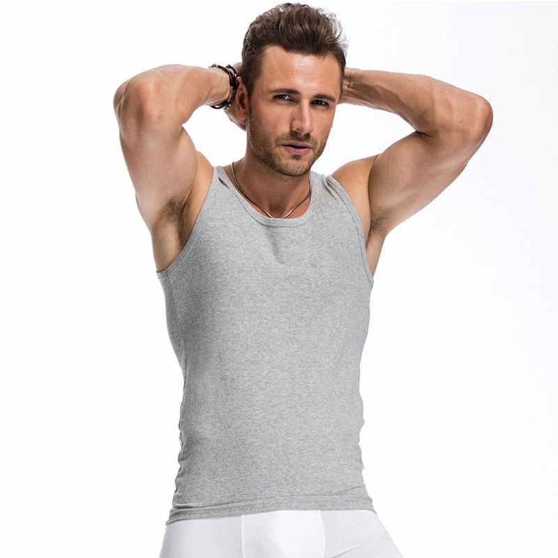 08c9282b626 2017 Summer Solid Color Cotton Tank Top Fitness Men clothing Sexy Sleeveless  O-neck T ...