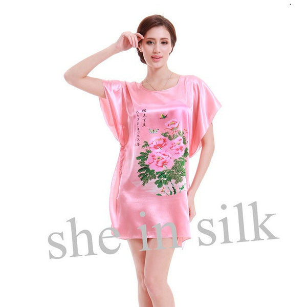 2017 Top Sale Big Size Silk Dressing Gowns For Women Nightdress ...