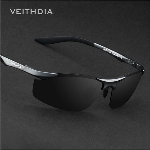 2017 VEITHDIA Brand Designer Rimless Mens Aluminum Sunglasses Polarized Male Sun Glasses  oculos de sol masculino For Men VT6529