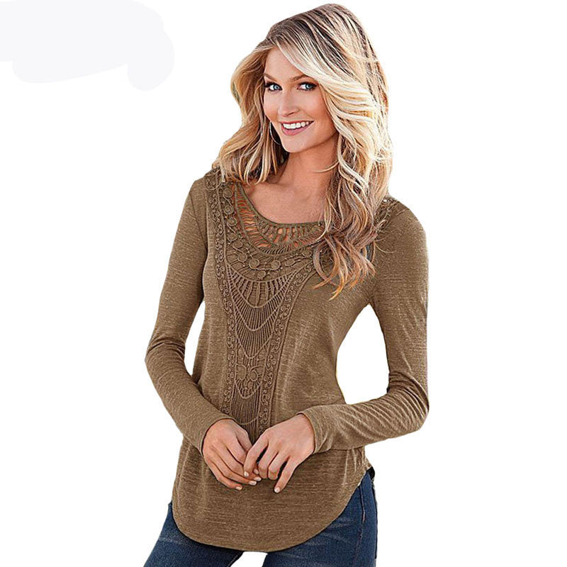 f40ab320e49b1a ... 2017 Vintage Ethnic Boho Blouses Sexy Female Lace Crochet Tunic Shirt  Tops Embroidered Lady Long Sleeve ...