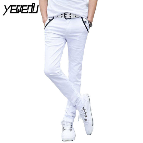 #2802 Black/White pencil pants men Casual Fashion Slim Skinny Summer style 2017 Pantalon homme Cotton pants  joggers Slim - Raja Indonesia