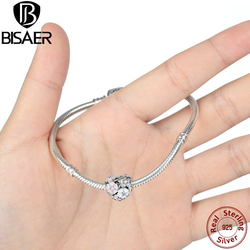 8f9eb62a27b43 925 Sterling Silver Charm Poetic Blooms, Mixed Enamels Clear CZ Heart  Charms Fit Pandora Original Bracelet For Women WEUS283
