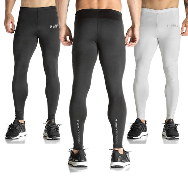 buy good lace up in harmonious colors ASRV Mens Compression Tights Pants Joggers Clothing Pantalones Hombre  Gymshark Sweatpants Trousers