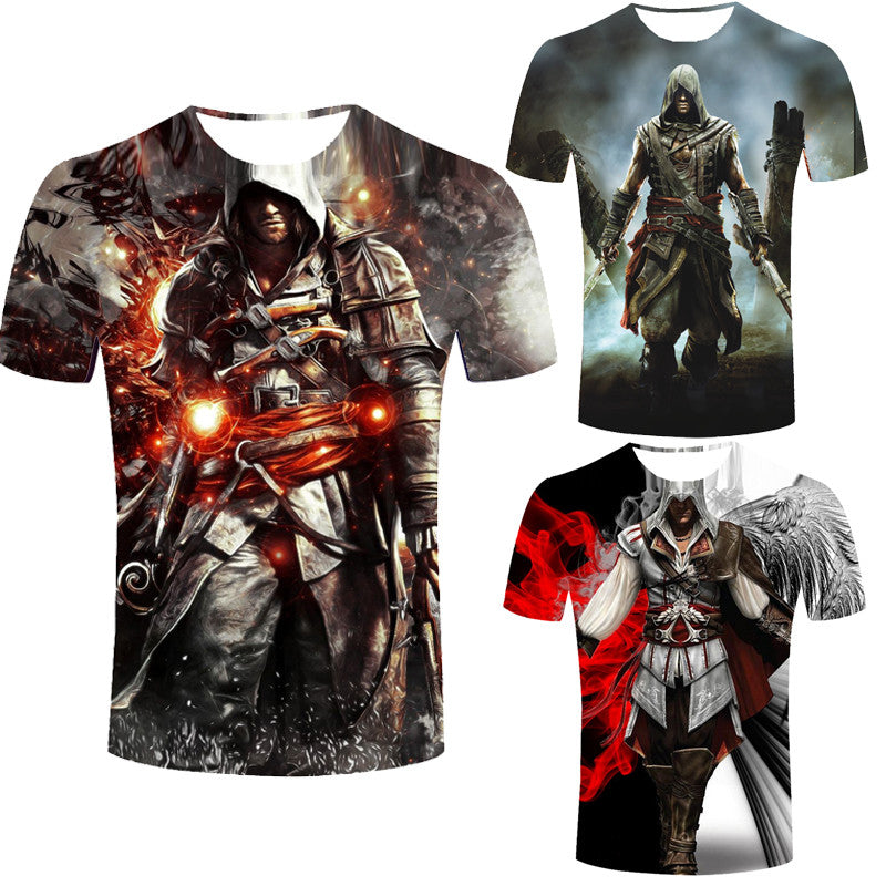 Assassins Creed Men S T Shirt Male Assassin S Short Sleeve Costume Men