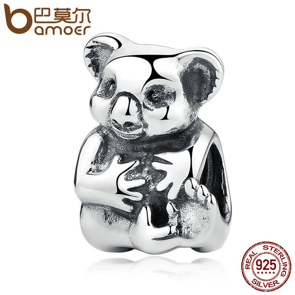 Koala Bear And Her Baby Charm Bead 925 Sterling Silver