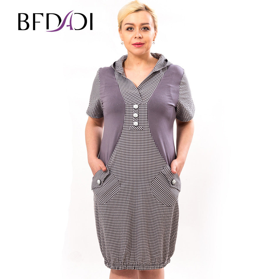 a1360c2348 BFDADI Plus Size Dress Women Casual Dress Summer Loose Dresses For Women  2016 Hoodie Vestidos xl ...