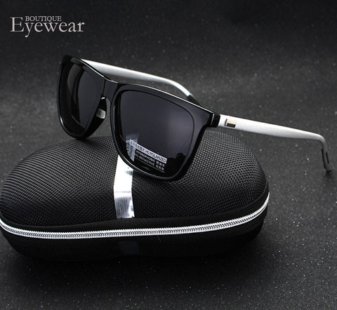 BOUTIQUE Polarized Sunglasses Men Square Brand Designer Male Aviation Vintage Sun Glasses Masculino H1815 - Raja Indonesia