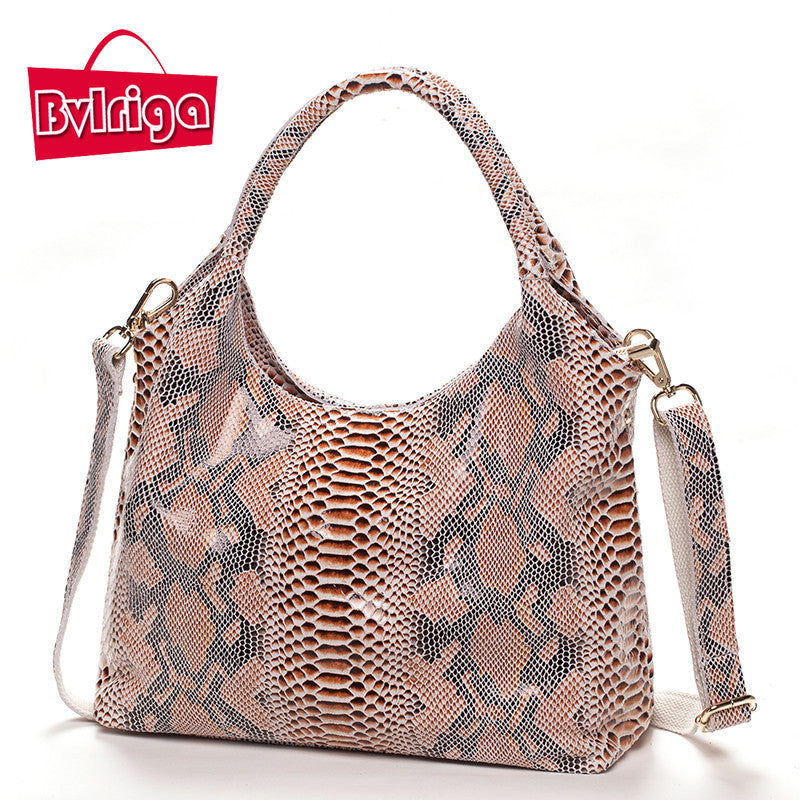 BVLRIGA Serpentine genuine leather bag shoulder bags women messenger bags  designer handbags high quality women leather ... 9cf6f18df6d7b