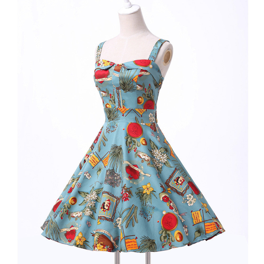 8eef1cf344c55 Belle Poque Rockabilly Womens Summer Style Dresses 2017 robe Pin Up ...