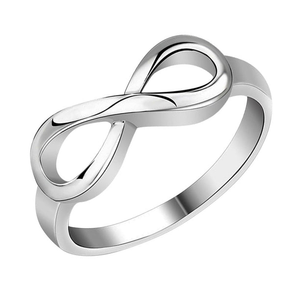 Best Friend Gift Silver Plated Infinity Ring Endless Love Symbol