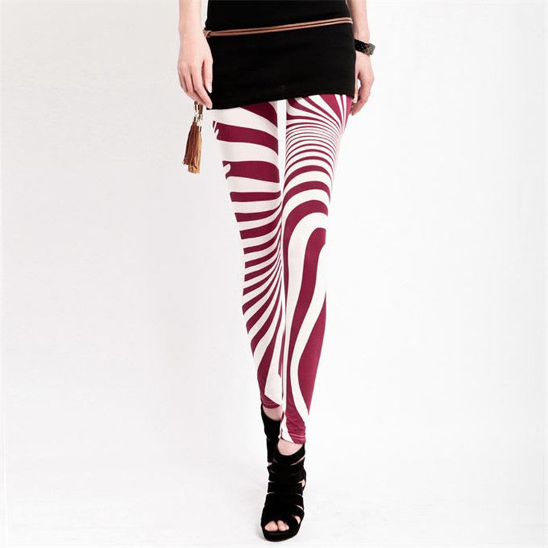 2f656585bf61 ... Black White Striped Leggings for Women Plus Size XXL Legins New 2017  Slim Girl Pants Vintage ...