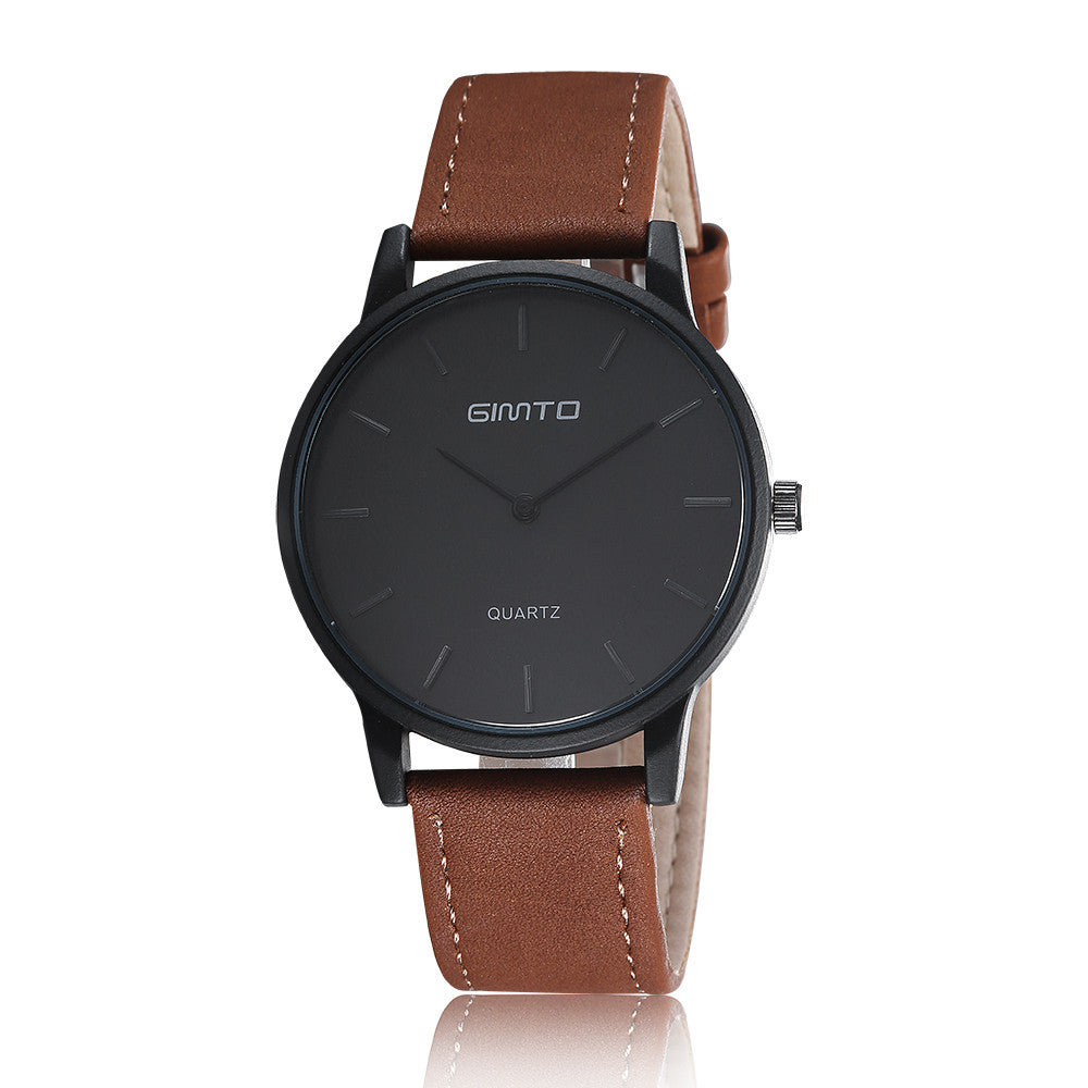 d3730a135 Business Casual Wristwatch Leather Strap Geneva Watch Simple Fashion H –  Raja Indonesia