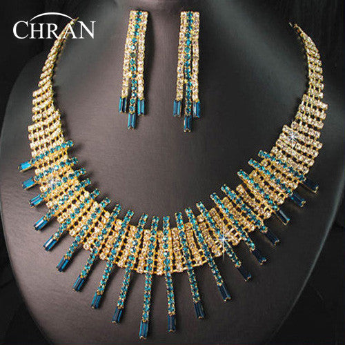 Chran Classic Gold Color Costume Wedding Jewelry Accessories Promotion