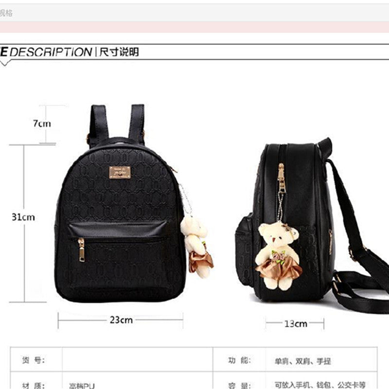 263536a14467 ... COOL WALKER NEW Fashion Designed Brand Backpack Women Backpack Leather  School Bag Women Casual Style Backpacks ...