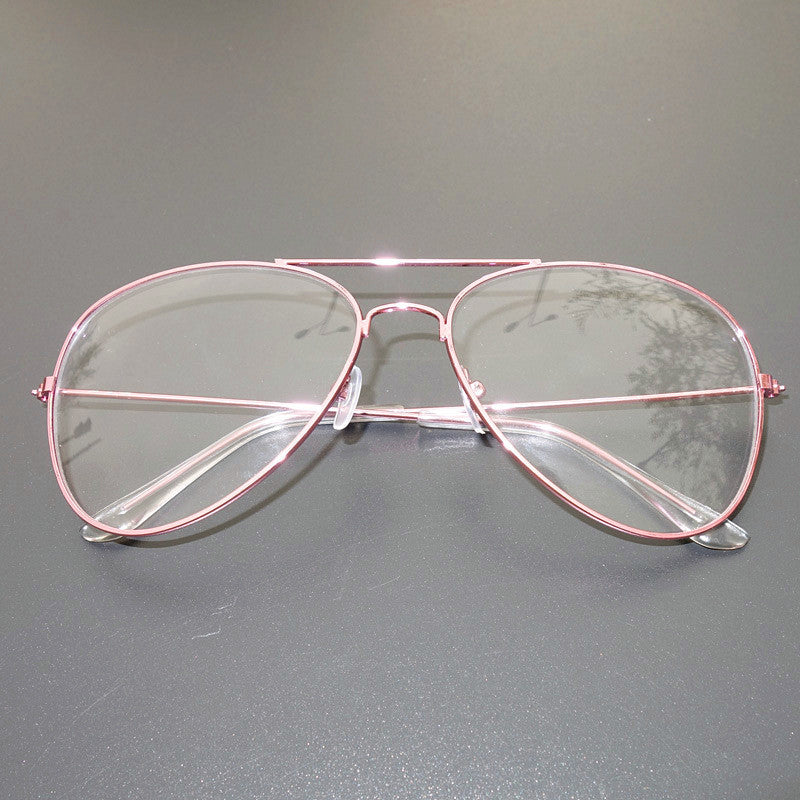 976080dbca ... Classic Gold Frame Clear Glasses Myopia Pink Clear Frame Glasses Women Men  Spectacle Frame Clear Lens ...