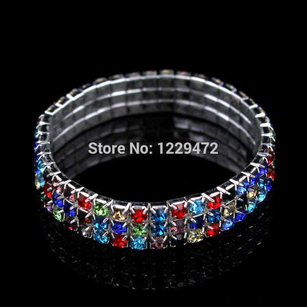 ... Classic Three Row Rhinestones Colorful Crystal Necklace Earrings  Bracelet Ring Bridal Wedding Jewelry Sets African Jewelry ... a8b281c20052