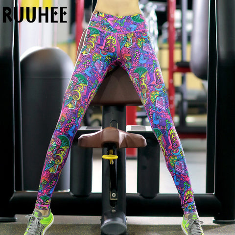 100c3676a97c2 Colorful Leggings Women For Workout Fitness Legging Sexy Clothing Gothic  Print Pant Adventure Time Leggins 2017
