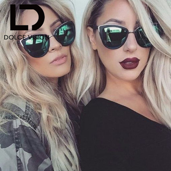 d161a35420f6a DOLCE VISION Cat Eyes Women s Sunglasses Women Summer Style Vintage Sun  glasses Woman Frame 2017 New ...
