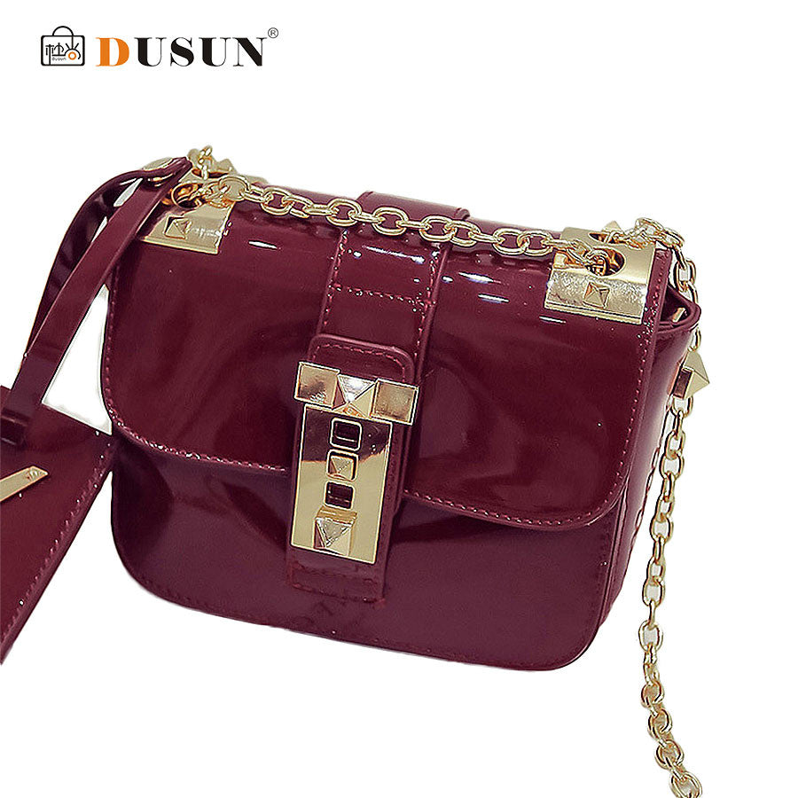 DUSUN New Summer 2016 Women Bags Messenger Bag Chain jelly Shoulder Women Messenger Bag Luxurious Fashion Casual Handbags