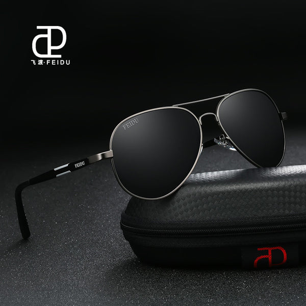 8a91e55da96 FEIDU 2017 High Quality Pilot Alloy Polarized Sunglasses Men Retro Classic  Alloy Frame ...