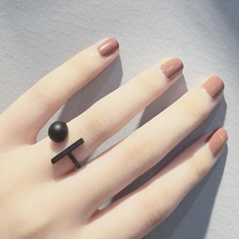 Fashion Top Of Finger Over The Midi Tip Finger Above The Knuckle Rings Black Punk Women Fine Jewelry nj48