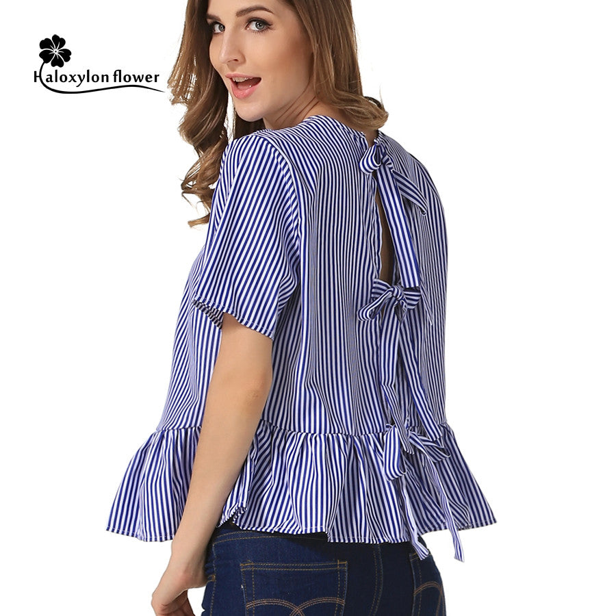 46a811c7986 Ladies Black And White Vertical Striped Shirt - Data Dynamic AG