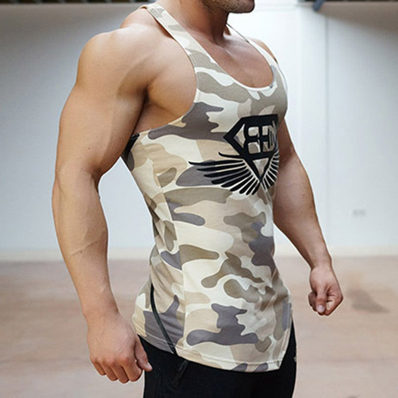 2ce7f3f8 ... Fitness Men Tank Top Army Camo Camouflage Mens Bodybuilding Stringers  Tank Tops Singlet Brand Clothing ...