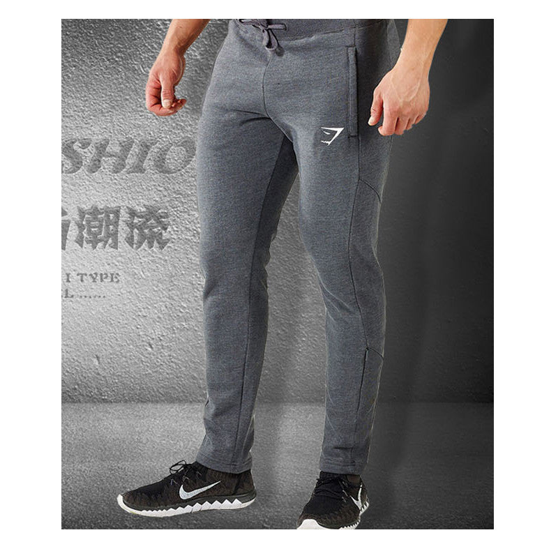 d3311b2f41077 Gymshark Mens Joggers Skinny Sweat Pants Embroidery Logo Tights Sweatpants  For Men Side Zipper Sheer Trousers ...