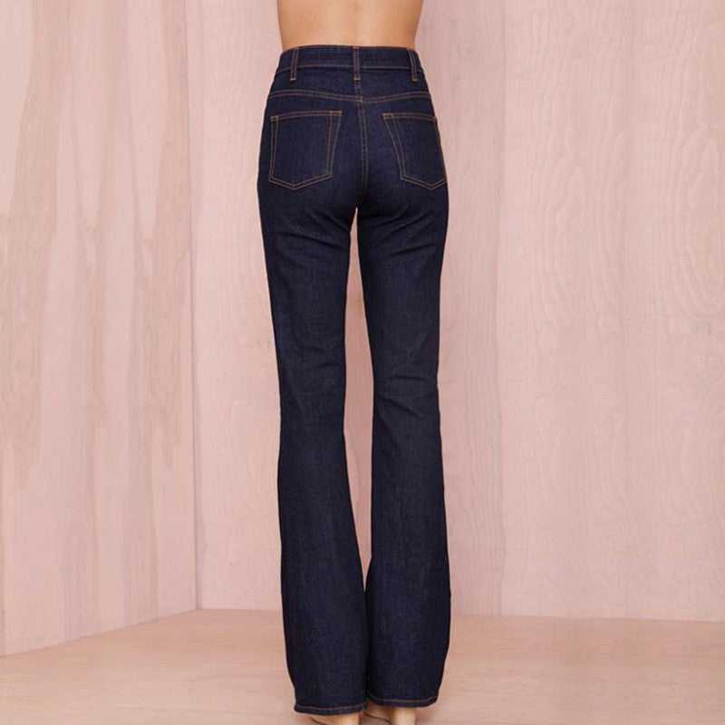 numerousinvariety huge range of newest HDY haoduoyi women slim flare jeans with vintage design for wholesale and  free shipping Retro Trousers Female Pants Jean