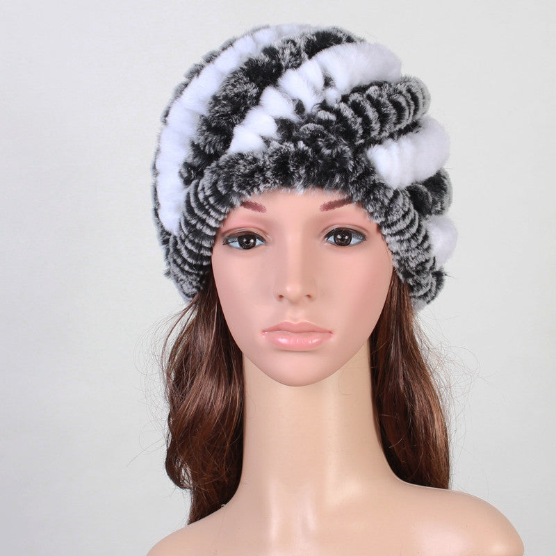Handmade Russian Women s Real Rabbit Fur Skullies Beanies Hats Female  Winter Warm Fox Fur Caps Fashion Headgear VK3083 28130c5b2a
