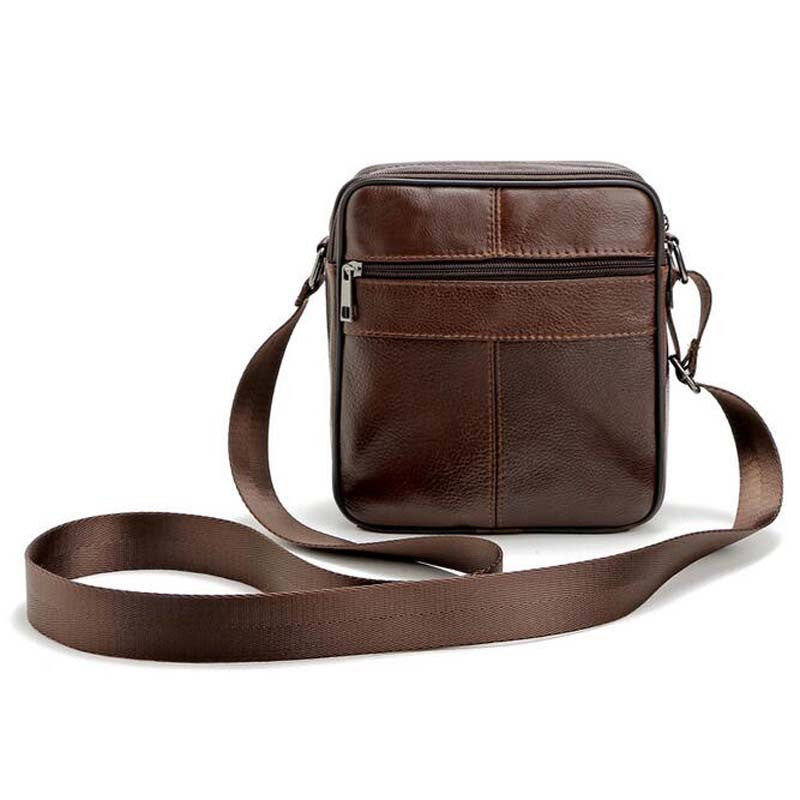 0d28961a87 ... High Quality 2016 Brand Genuine Leather Bag Vintage Designer Men  Crossbody Bags Cowhide Leather Small Messenger ...
