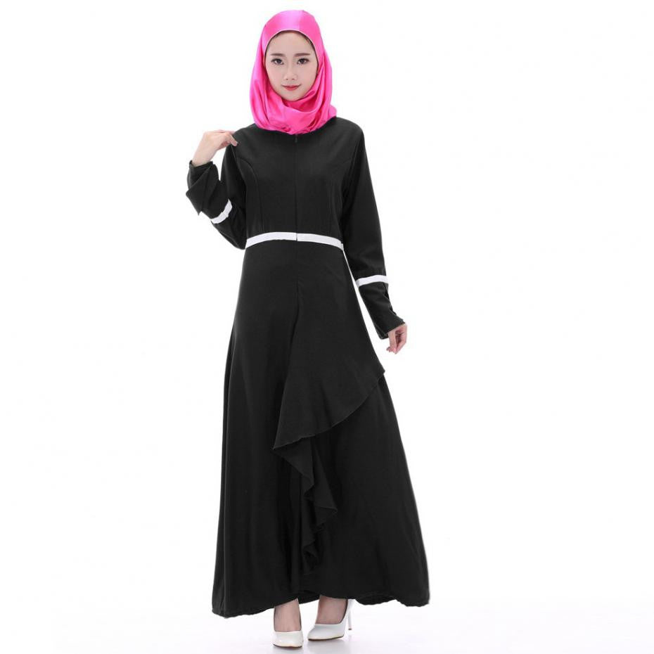 cae44d38005 Hot Sale Cotton Maxi Dress In Ethnic Style Muslim Women Clothing Plus Size  O-neck ...