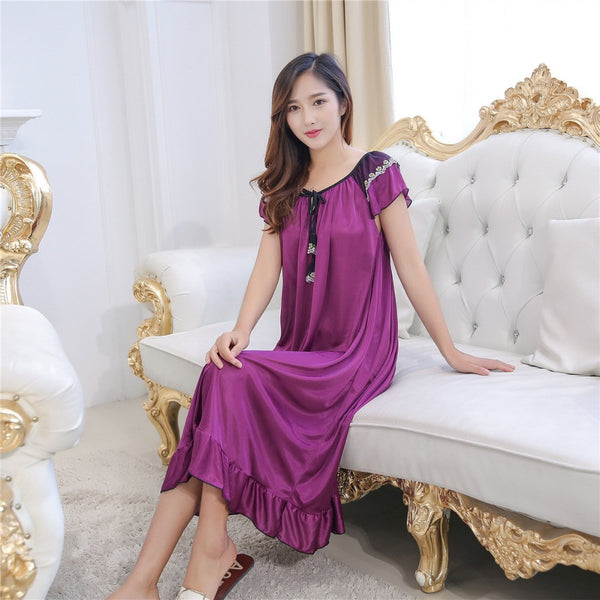 Hot Selling Women Night Gowns Sleepwear Nightwear Sleeping Dress ...