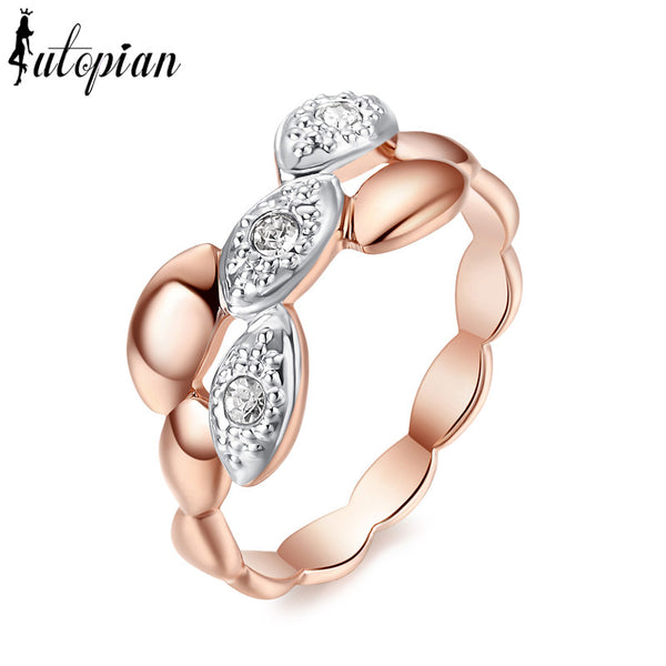 Iutopian Brand Valentine S Day Gift Wheat Series Ring With Austrian