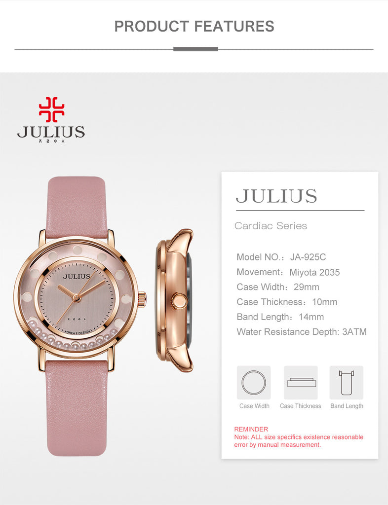Julius brand names watches women fashion cheap quality watches high end nickel free japanese quartz movt