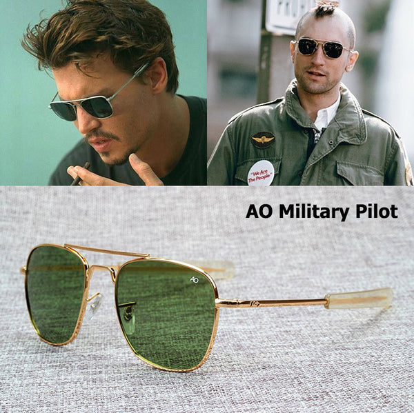 04c3dc69aa ... 20KGP Diamond Hard Scratch Protection Tempered Glass Unbreakable Sun  Glasses Military Special Sunglasses AO54  JackJad New Fashion Army MILITARY  AO ...