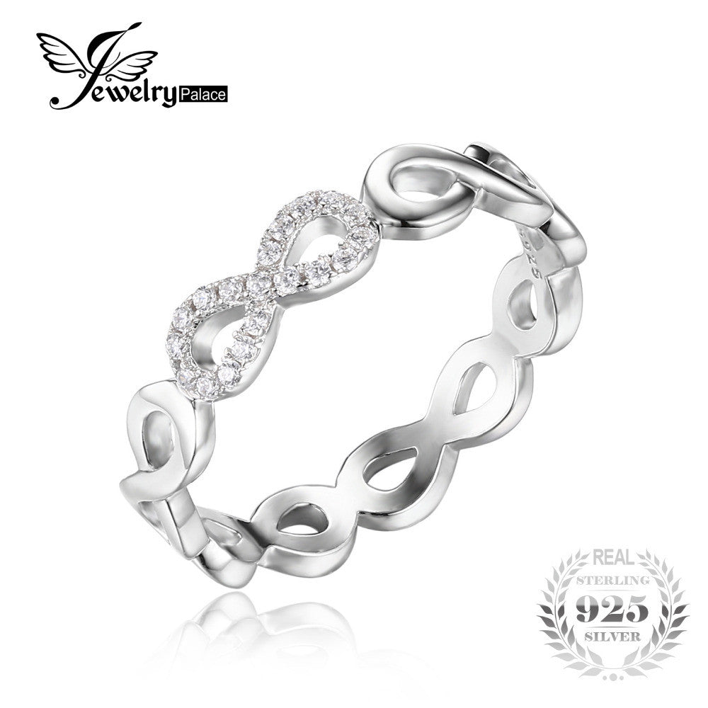 0df7419da JewelryPalace Infinity Forever Love Anniversary Promise Ring Pure 925  Sterling Silver Jewelry For Women Gift ...